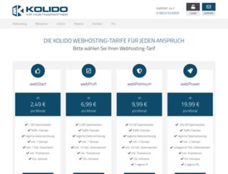 costumer.kolido.net screenshot