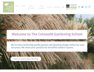 cotswoldgardeningschool.co.uk screenshot