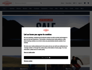 cotswoldoutdoor.com screenshot