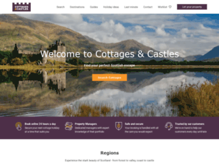 cottages-and-castles.co.uk screenshot