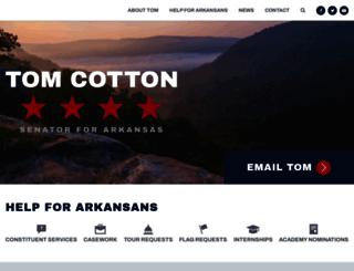 cotton.senate.gov screenshot