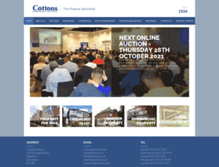 cottons.co.uk screenshot