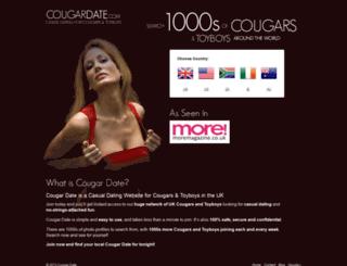 cougardate.com screenshot