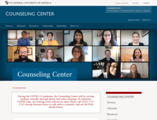 counseling.cua.edu screenshot