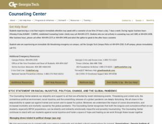 counseling.gatech.edu screenshot