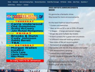 countryconcert.com screenshot