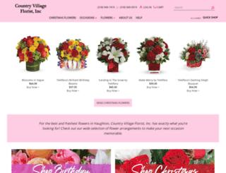 countryvillagefloristinc.com screenshot