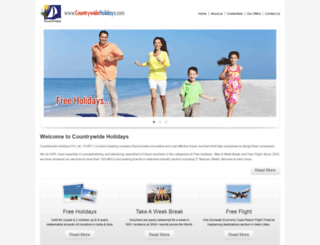 countrywideholidays.co.in screenshot