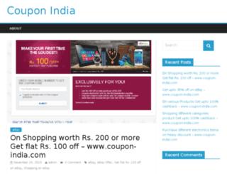 coupon-india.com screenshot