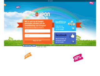 coupon.nl screenshot