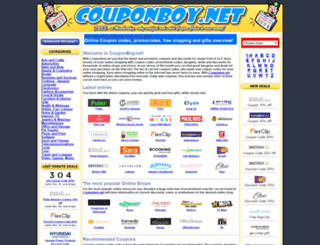 couponboy.net screenshot