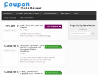couponcodebazaar.com screenshot