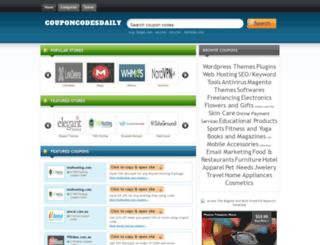 couponcodesdaily.com screenshot