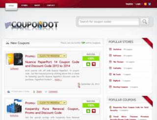 coupondot.com screenshot