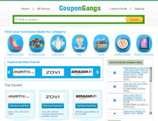 coupongangs.com screenshot