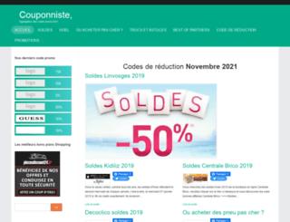 couponniste.net screenshot