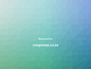 couponsa.co.za screenshot