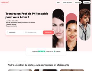 cours-de-philosophie.fr screenshot