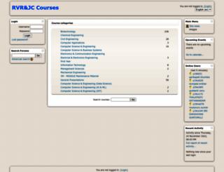 courses.rvrjcce.ac.in screenshot