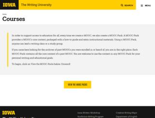 courses.writinguniversity.org screenshot
