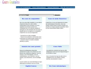 coursgratuits.net screenshot