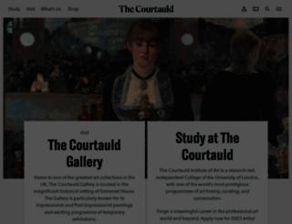 courtauld.ac.uk screenshot