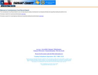 courtbook.tarrantcounty.com screenshot