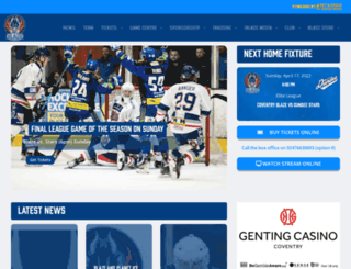 coventryblaze.co.uk screenshot