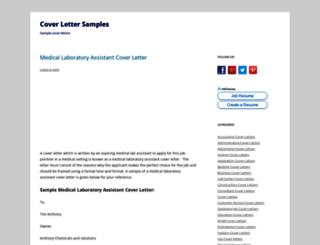 coverlettersamples.net screenshot
