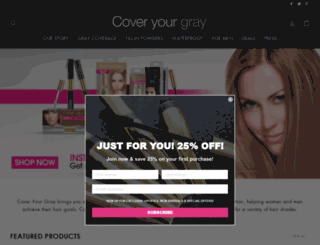 coveryourgray.com screenshot