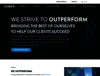 cowen.com screenshot