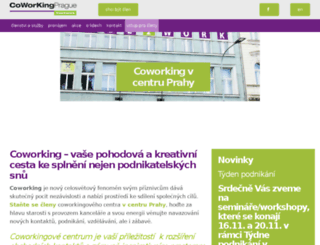 coworkingprague.cz screenshot