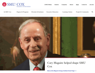 cox.smu.edu screenshot