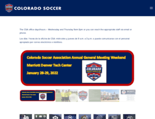coyouthsoccer.org screenshot