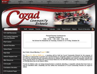 cozad.schoolfusion.us screenshot
