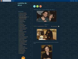 cozinhadadrica.blogspot.com screenshot
