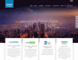 cozmotravel.com screenshot