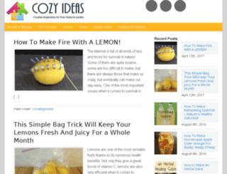 cozyideas.com screenshot