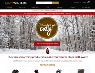 cozywinters.com screenshot