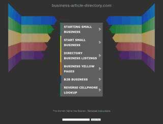 cp.business-article-directory.com screenshot