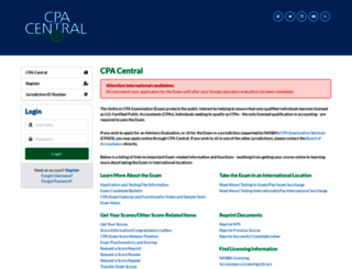 cpacentral.nasba.org screenshot