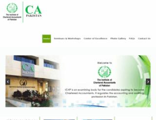cpd.icap.org.pk screenshot