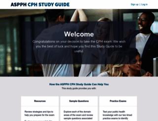 cphstudyguide.aspph.org screenshot