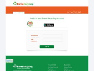 cportal.barnarecycling.com screenshot