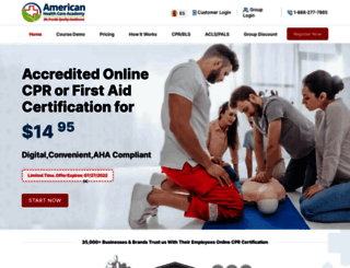 cpraedcourse.com screenshot