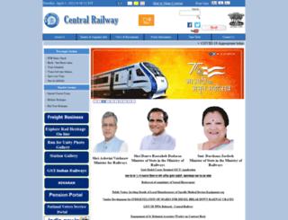 cr.indianrailways.gov.in screenshot