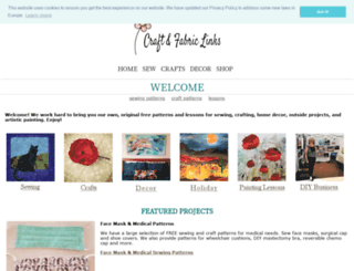 craftandfabriclinks.com screenshot