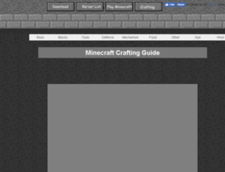 crafting.minecraftx.org screenshot