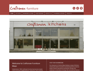 craftsmanfurniture.ie screenshot