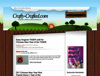 crafty-crafted.com screenshot